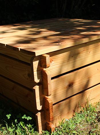 composteur simple en bois douglas