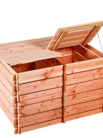 composteur bois double